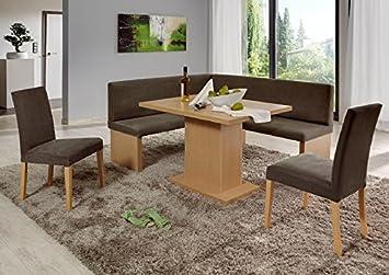 GroB Moebel Guenstig24.de Eckbankgruppe Charleen Eckbank Tisch Sitzgruppe Küche  Esszimmer/Buche Natur Dekor