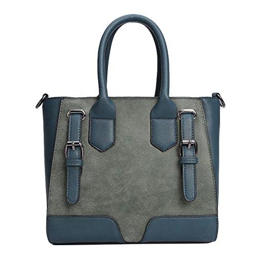 Women's Yiji Style Capacity Blue Handbag Large Euro Small Tote wHHdqR6r