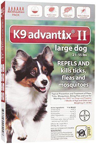 Used, K9 Advantix II Flea and Tick Treatment - Large Dog for sale  Delivered anywhere in USA