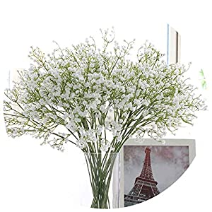 Chibi-store 3PCs DIY Artificial Baby's Breath Flower Gypsophila Fake Silicone Plant for Wedding Home Hotel Party 57
