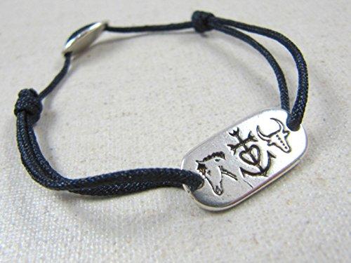8be218d7ce3 Bracelet cordon tréssé petit modéle -camargue   taureau