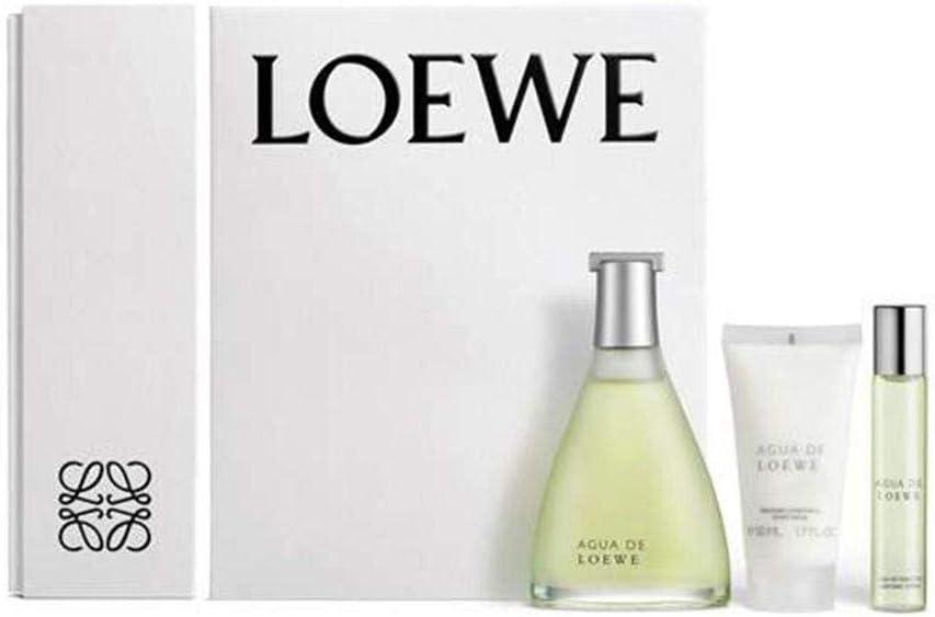 Loewe Agua Set de Eau de toillette (vaporizador natural 100 ml + natural spray 20 ml) y Bálsamo corporal (50 ml): Amazon.es: Belleza