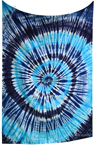 Amitus Exports(TM) Premium Quality 1 X Indian Hand Tie Dye Blue Tie Dye Color Size 78