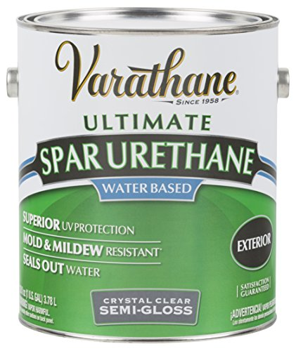 RUST-OLEUM 250131 Varathane Gallon Outdoor Crystal Clear Semi-Gloss Finish (Varathane Water)