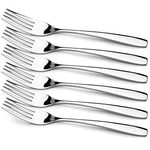 - Warekin 6-Piece 7.8 Inch Fish Forks 18/10 Stainless Steel Wide Handle Series Appetizer Dinner Forks (7.8 Inch Fish Forks)