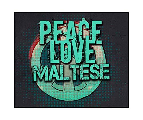 - Makoroni - Peace Love Maltese Dog Dogs - Jigsaw Puzzle, 30 pcs.