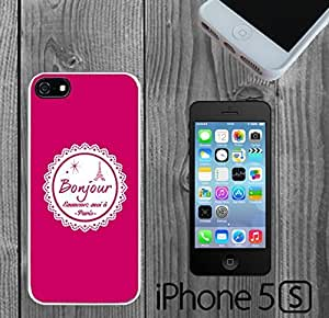Cute Bonjour Paris Custom made Case/Cover/skin FOR iPhone 5/5s