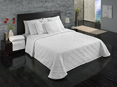 Cheapest Prices! Europa Fine Linens Evora Matelasse Bedding, Bedspread King Size 120-Inch by 120-Inc...