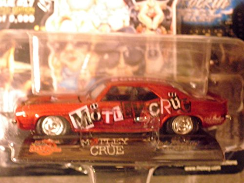 Star Crue Motley (Motley Crue 69 Camaro Signature Superstar Edition 1:64 scale die-cast by Racing Champions with openable hood and rubber tires)