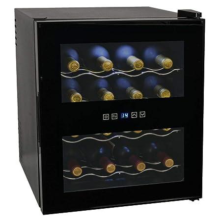 mewmewcat - Nevera para Vino (48 L, 16 Botellas, Pantalla LCD ...