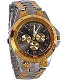 OpenDeal Rosra Black Golden Casual Analog Watch for Men OD-W045