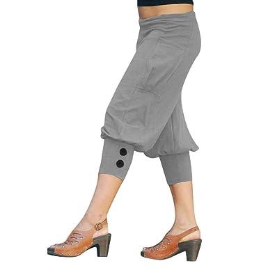 Yebutt_Pantalon de Yoga para Mujer, Estilo Verano, Talla ...
