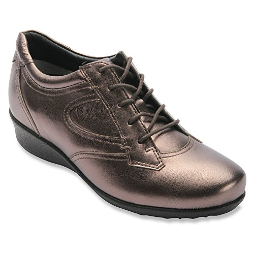 Women's Pewter Prague Casual Drew Leather Shoe Sneakers PEqYnw5x