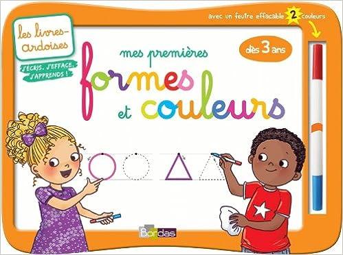 45b99371bb8 Amazon.fr - Livres-ardoises - Mes premières formes et couleurs + 1 feutre 2  couleurs - Collectif - Livres
