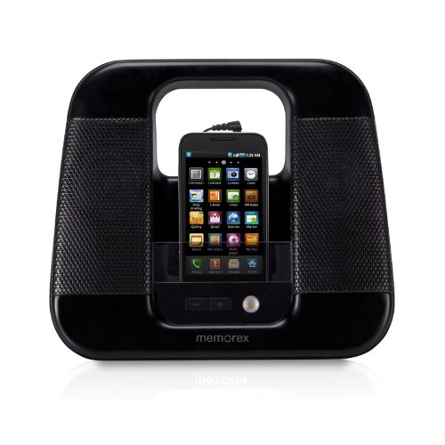 Memorex ML410-BLK Portable Line In Speakers Blk Dock Line