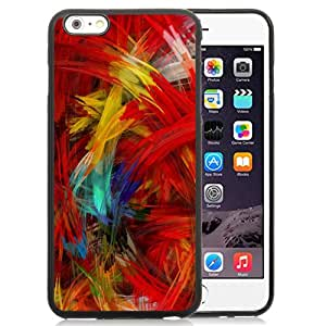 NEW DIY Unique Designed iPhone 6 Plus 5.5 Inch Generation Phone Case For Colorful Feather Phone Case Cover