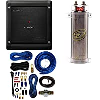 SQCAP2M Power Capacitor W/ 4 Gauge AMP KIT+ Kenwood Excelon X501-1 Mono subwoofer amplifier — 500 watts RMS x 1 at 2 ohms