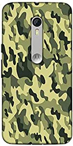 Snoogg Camo Green Military 2764 Designer Protective Back Case Cover For Motor...