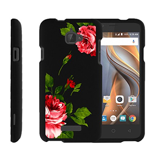 MINITURTLE Case Compatible w/ Miniturtle [Coolpad 3622A case, 3622A Cover] [Snap Shell] 2 Piece Hard Plastic Case Affectionate Flowers