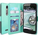 Droid Turbo 2 Case, LK Droid Turbo 2 Wallet Case, Luxury PU Leather Case Flip Cover Built-in Card Slots & Stand For Motorola Moto Droid Turbo 2, MINT
