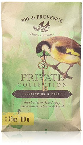 French Mint Soap (Pre de Provence Private Collection French Soap Bar (110 Gram) -  Eucalyptus & Mint)