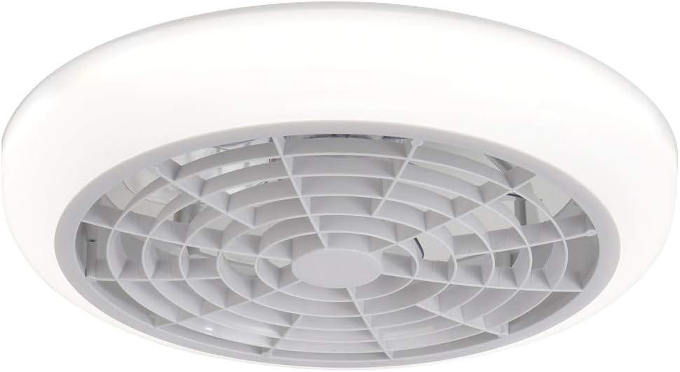 18″ Ventilador de techo con luz, invisible techo ventilador sin cuchilla de luz, LED de montaje remoto del ventilador de control de 3 colores regulable Flush para Perfil Bajo de habitaciones,Blanco