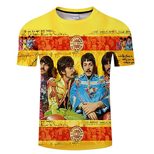 BIEID Men's The Beatles Fashion Printed T Shirt, Unisex Cool T-Shirts Top Tees 2-XL