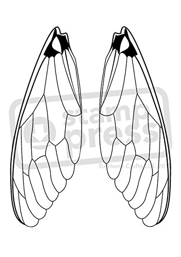 A7 'Insect Wings' Unmounted Rubber Stamp (SP00003013)