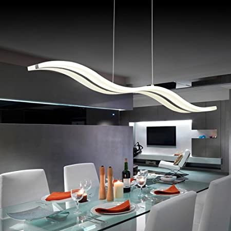Modern//Contemporary Chrome Feature for LED AcrylicLiving Room // Bedroom // Dining Room // Study Room//Office // Kids White 40W Pendant Light Warm White