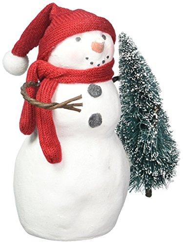 (Hallmark Home Holiday Snowman Figurine with Tree, Medium)