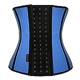 FIRM ABS Women's 3 Hook Hourglass Latex Waist Training Corset Body Shaper