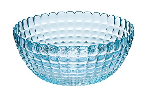 Guzzini Tiffany Collection Large Serving Bowl, 101-Fluid Ounces, Sea Blue (Fruit Tiffany Bowl)