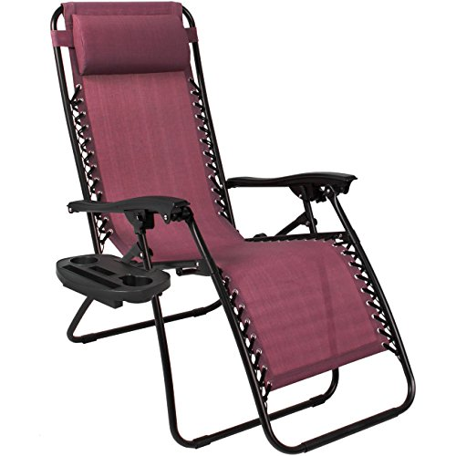 Best Choice Products Set of 2 Zero Gravity Chairs - Burgundy
