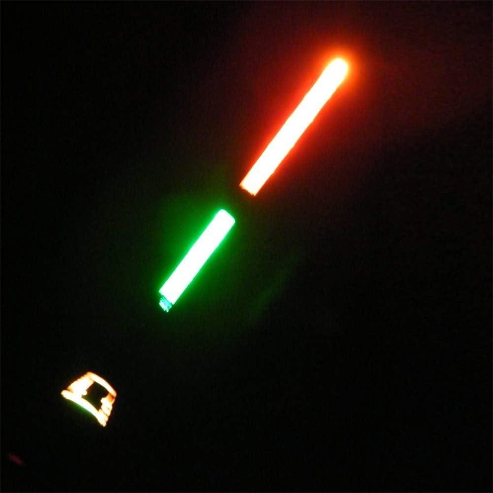 1# lumi/ère Lumineuse /électronique Verticale pour la p/êche de Nuit Kinnart Lot de 3 flotteurs de p/êche /électroniques /à LED en Bois de balsa