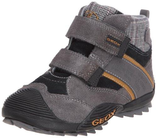 Geox Savage - Zapatillas de cuero para niño negro - Noir/gris (C0017)