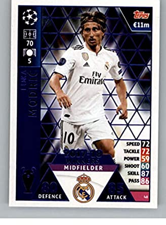 e662eca69 Amazon.com  2018-19 Topps UEFA Champions League Match Attax  48 Luka ...