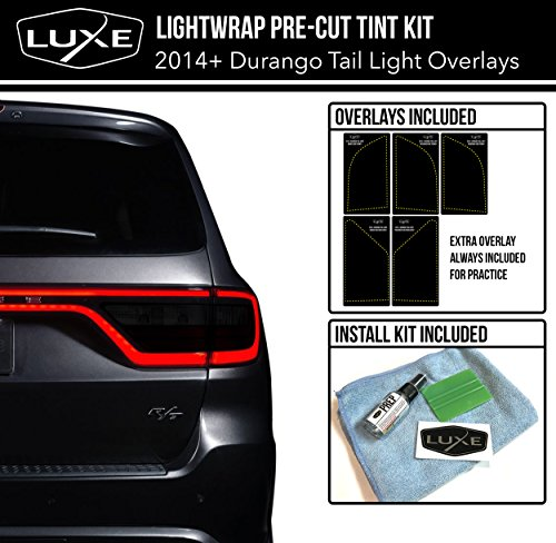 2014-18 Dodge Durango Tail Light Tint Kit - Dark Smoke Dodge Durango Vinyl