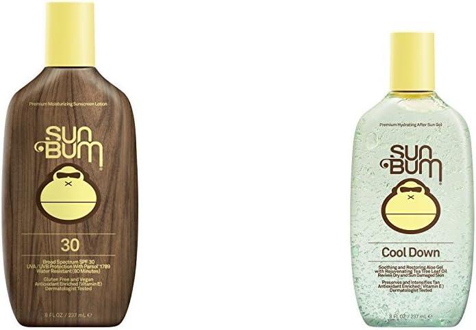 Sun Bum Original Sunscreen Lotion, SPF 30 and Cool Down Hydrating After Sun Gel
