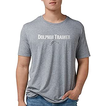 63d3fc3f99f Amazon.com: CafePress - Dolphin Trainer Dark T-Shirt - Mens Tri ...