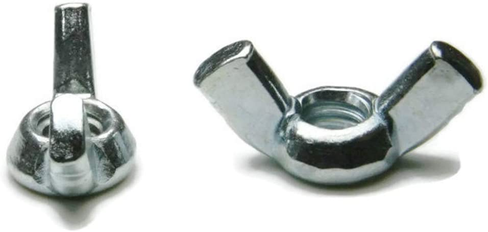 5//16-18 Qty-100 Wing Nuts Zinc Plated Steel