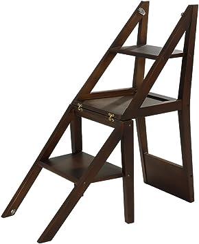Taburete plegable de madera maciza multifuncional de madera maciza, escalera de cuatro patas para niños, taburete de peldaños, bastidores. (Color : A): Amazon.es: Bricolaje y herramientas
