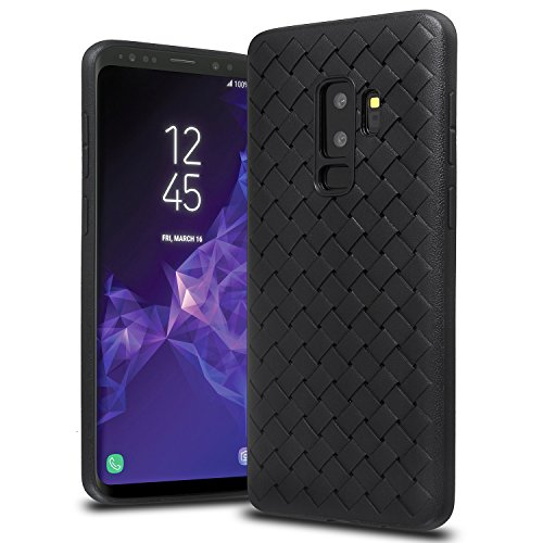 Price comparison product image Samsung Galaxy S9+ Plus Case, Xawy Slim Fit Shell Soft Matte Texture Full Protective Flexible Anti-Scratch Anti-Shock Cover Case Breathable Plaid Weaved TPU Gel Case for Samsung Galaxy S9+ Plus