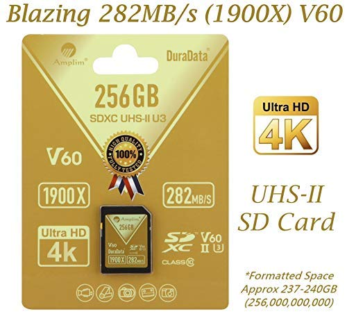 Amplim 32GB UHS-II SDHC SD Card Blazing Fast Read 285MB/S (1900X) Class 10 U3 Ultra High Speed V30 UHSII Extreme Pro SD HC Memory Card. Professional 4K Full HD Video Shooting 32 GB / 32G TF Flash. New