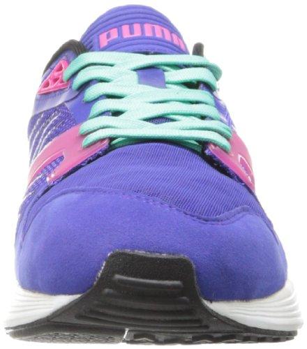 Puma Mens Framtida Xt-runner Klassiska Sneaker Spektrum Blå / Svart / Rödbetor Lila / Elektrisk Green