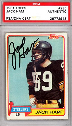 Jack Ham Autographed Signed 1981 Topps Card Pittsburgh Steelers #26772948 - PSA/DNA Certified - NFL Autographed Football Cards