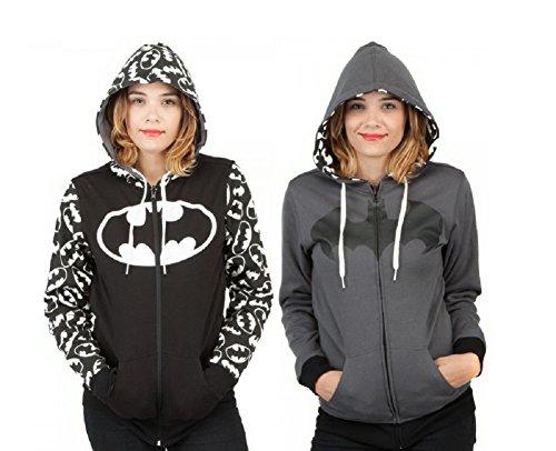 Reversible Batman Juniors Zip Up Hoody XL (Hoodie Batman)