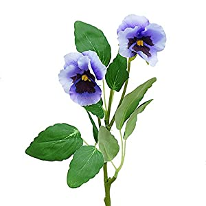 Beautiful Handmade Real Touch Artificial Flower Cloth Pansy Viola Wittrockiana Bouquet For Wedding Home Party Office Restaurant Cafe Vase Photography Decoration Mother's Day Gift (Bunch of 6) 114