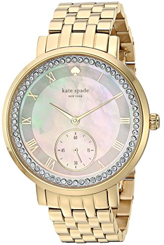 - kate spade new york Women's KSW1291 Monterey Analog Display Japanese Quartz Gold Watch