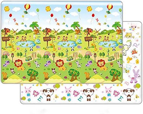 子供用プレイマット ベビープレイマット厚いクロールマット非毒性両面防水シルクXPE滑り止め子供プレイマットカーペットベビー幼児子供のため (色 : D3, サイズ : 300x180x2cm)