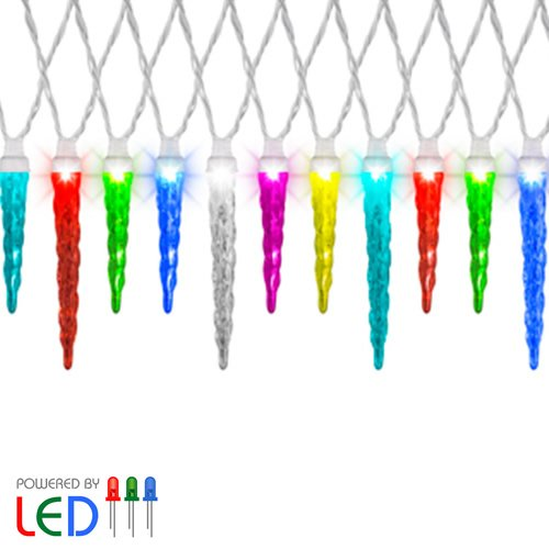 Gemmy Christmas Icicle Color Changing Light 12 Led Light Set
